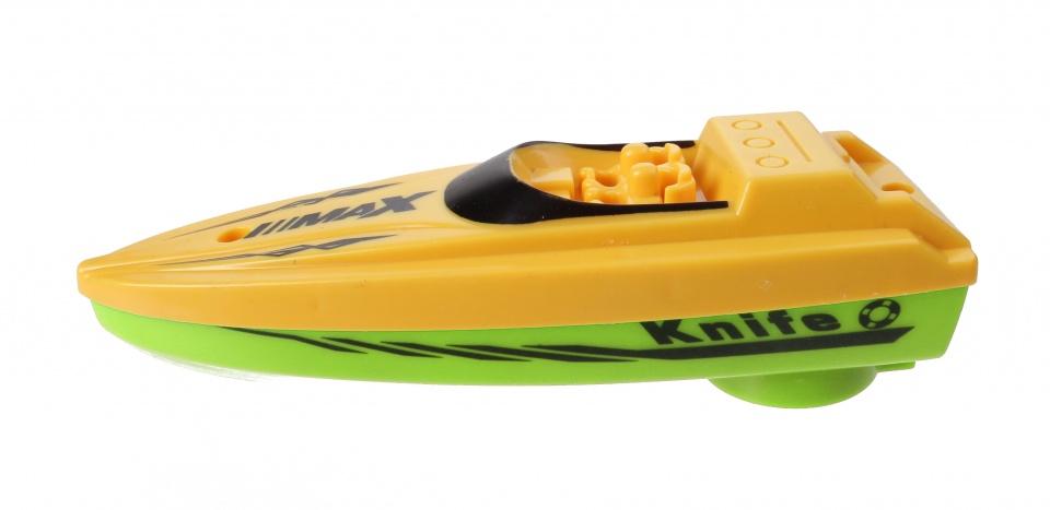 Free and Easy boot met trekkoord 13 cm geel/groen