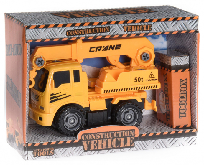 construction vehicle crane truck 17 cm yellow/black
