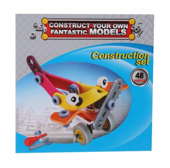 Free and Easy constructieset vliegtuig 48 delig