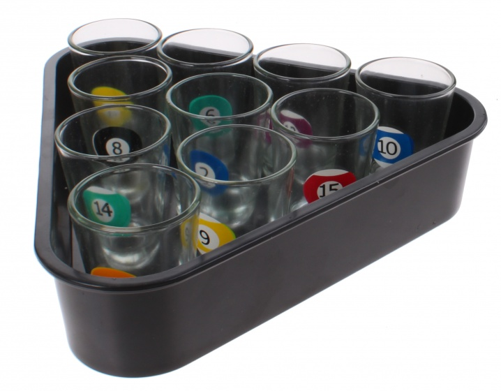 Free and easy drankspel shot glasses 20 cm zwart 11 delig 265656 20181212121256