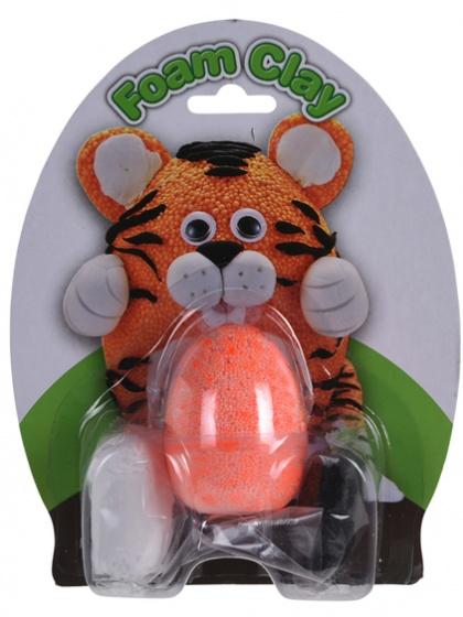 Free and Easy Foam Clay set tijger oranje 4 delig