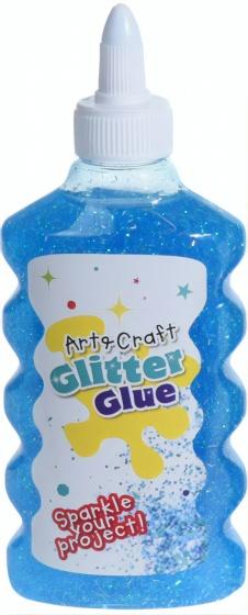 glitter glue 180 ml blue