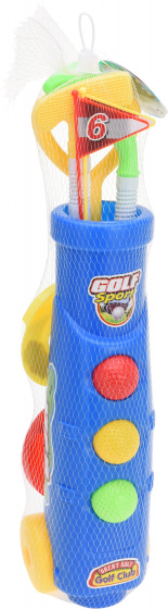 Free and Easy kids golfset rood/geel/blauw 11 delig