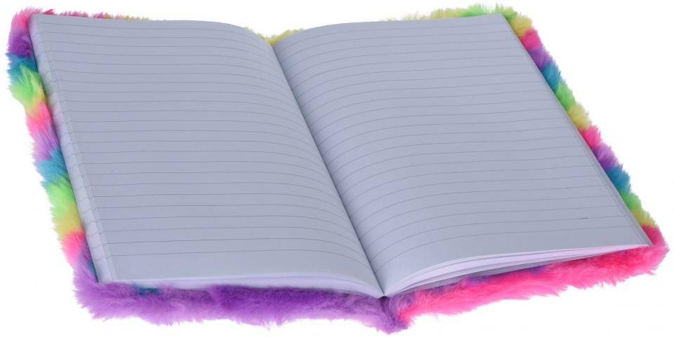 Free and Easy Notitieboekje pluche regenboog kopen