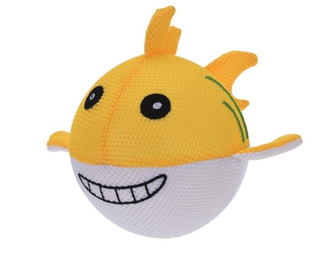 Free and Easy Opblaasbare splashbal zeedier geel 15 cm