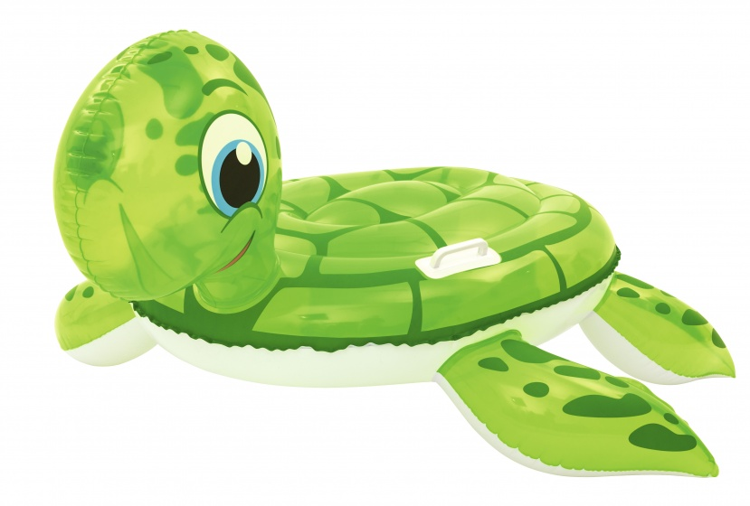 Free and Easy opblaasdier zeeschildpad ride on 140 cm groen