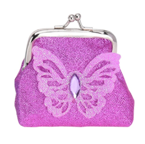 1590fce6176 Free and Easy portemonnee clip vlinder 10 cm paars