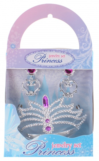 Free and Easy prinsessenset 3 delig roze/zilver