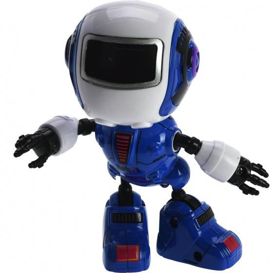 Free and Easy robot met licht en geluid blauw 11 cm