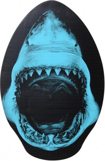 Free and Easy skimboard haai blauw 76 x 50 cm