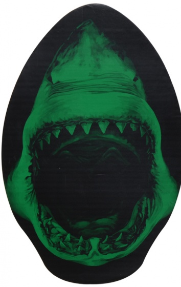 Free and Easy skimboard haai groen 76 x 50 cm