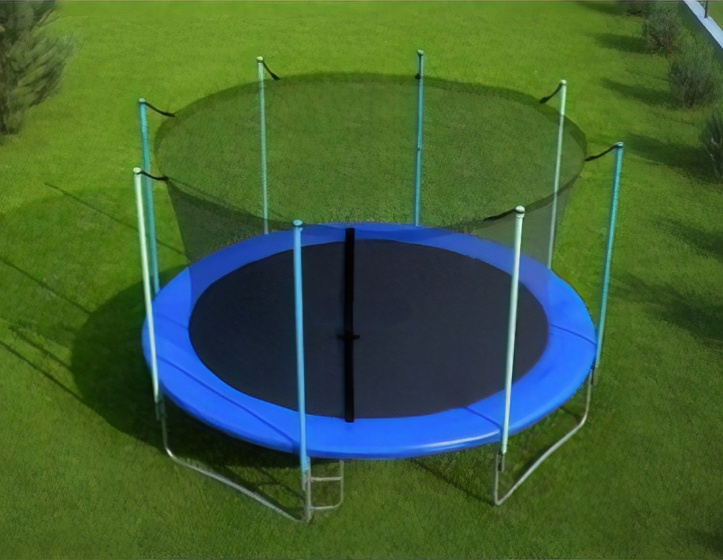 safety net for trampoline 244 cm with six poles black