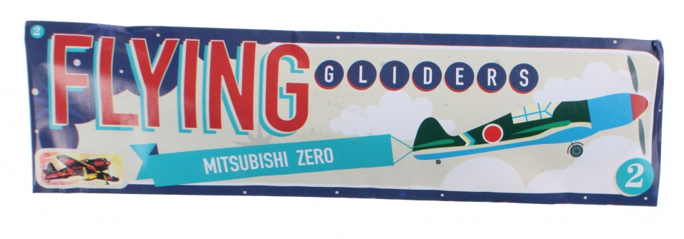 Free and Easy vliegtuig Flying Gliders 18 cm Mitsubishi Zero