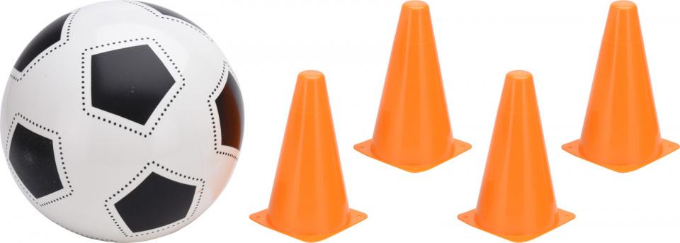Free and Easy voetbalspel junior oranje/wit 5 delig