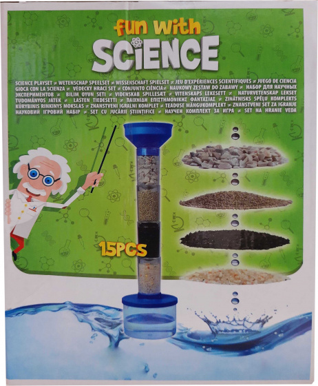 waterundekit Fun with ScienceStein blau 15-teilig