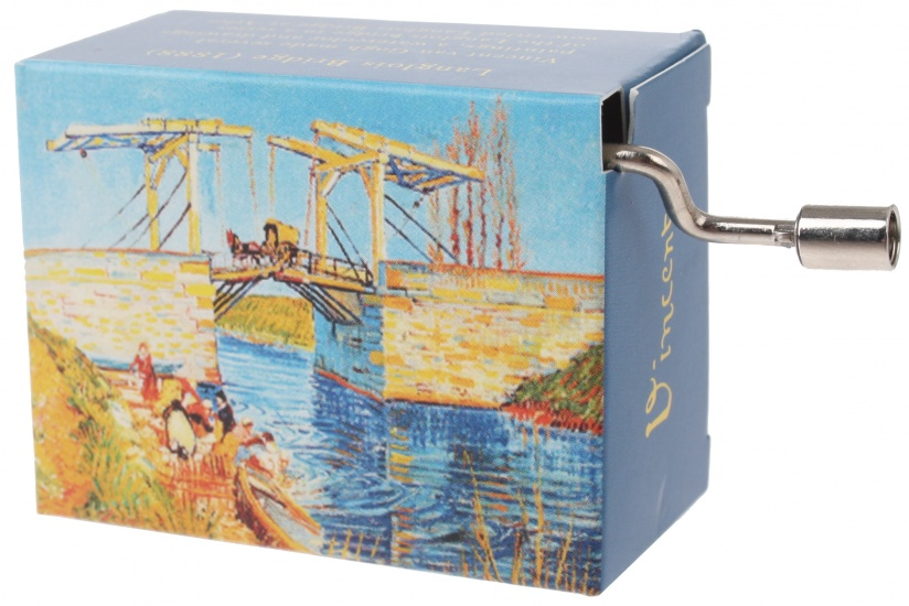 Fridolin muziekdoos Van Gogh Brug van Langlois 4,5 x 6 x 3 cm