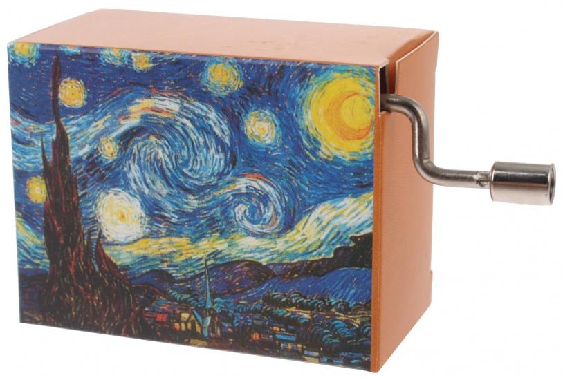 Fridolin muziekdoos Van Gogh De sterrennacht 4,5 x 6 x 3 cm
