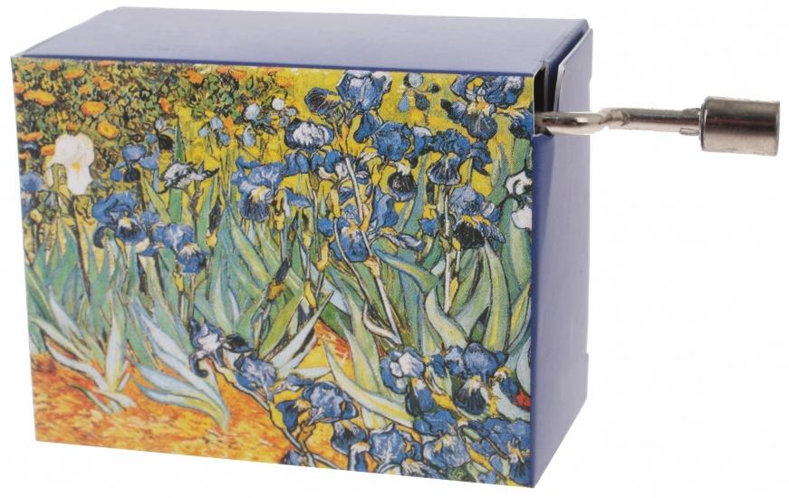 Fridolin muziekdoos Van Gogh Irissen 4,5 x 6 x 3 cm