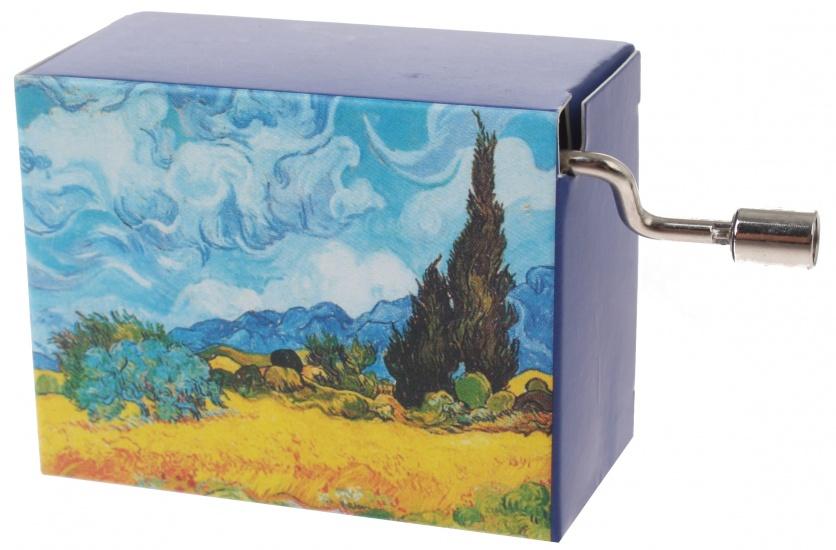 Fridolin muziekdoos Van Gogh Korenveld 4,5 x 6 x 3 cm