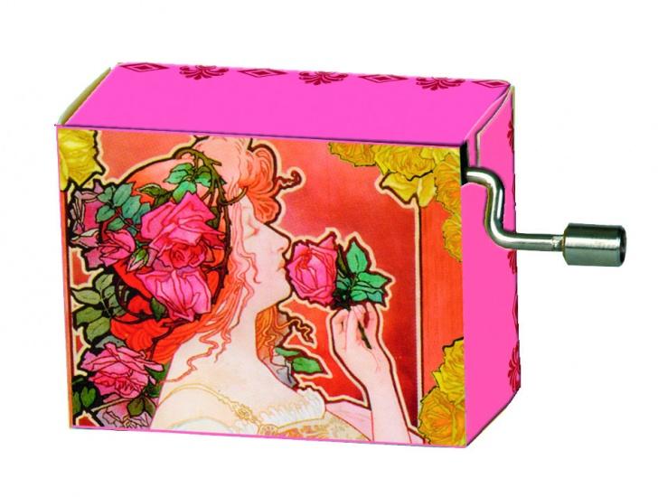 Fridolin Muziekdoosje: Jugendstil 'LA VIE en Rose' Roze