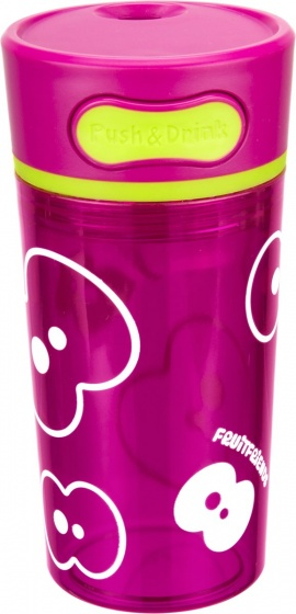 FruitFriends beker Push & Drink 300 ml roze