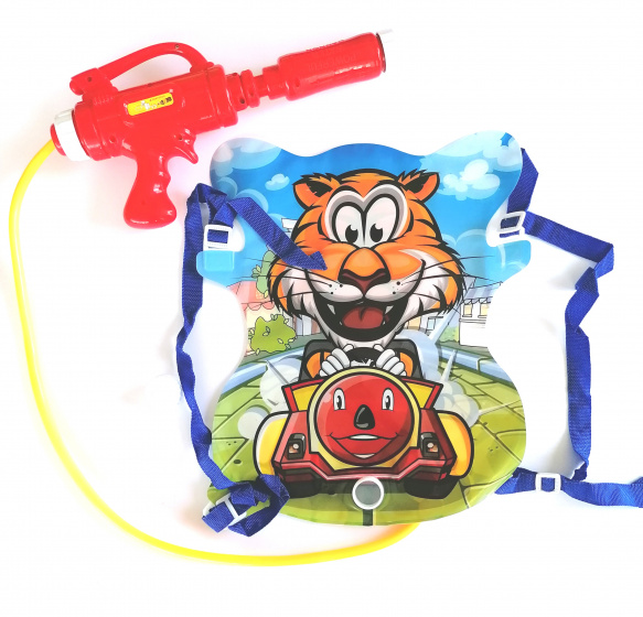 Funny Toys waterpistool met tank Tijger 35 cm rood 3 delig