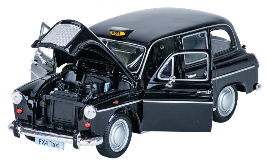 Welly Metalen Austin Londen Taxi: 19 cm Zwart
