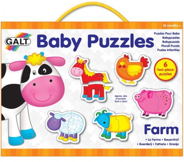 Galt babypuzzels boerderij 16 x 12 cm 12 stukjes