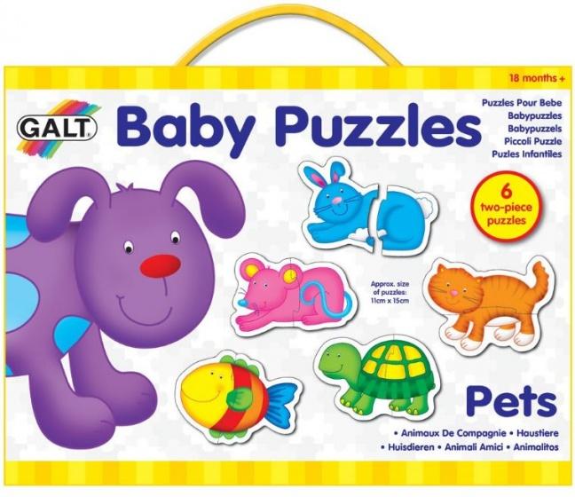 Galt babypuzzels Huisdieren 15 x 11 cm 12 stukjes