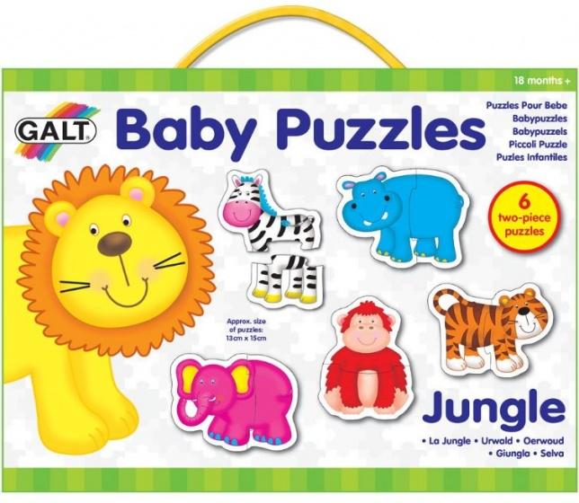 Galt babypuzzels Jungle 15 x 13 cm 12 stukjes