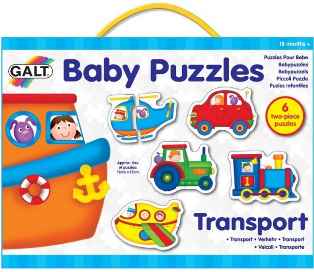 Galt babypuzzels Transport 15 x 12 cm 12 stukjes