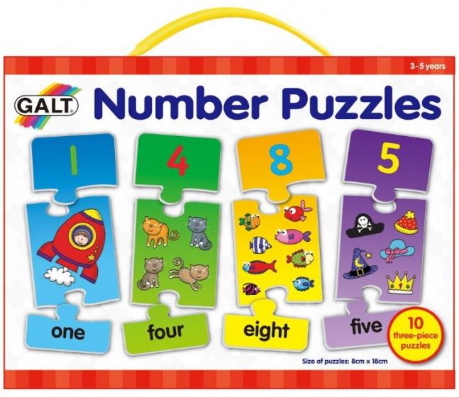 Galt leerpuzzel cijfers (en) 30 stukjes