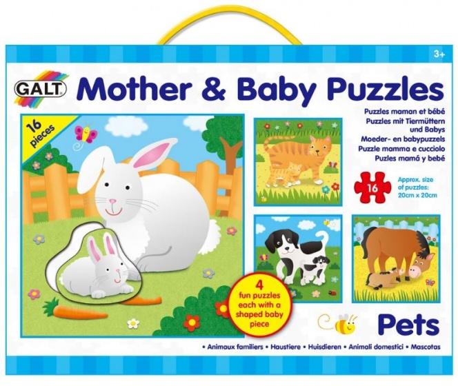 Galt legpuzzel moeder en baby Huisdieren 20 x 20 cm 64 stukjes