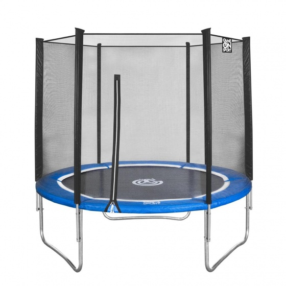 Game On Sport trampoline met veiligheidsnet blauw 244 cm