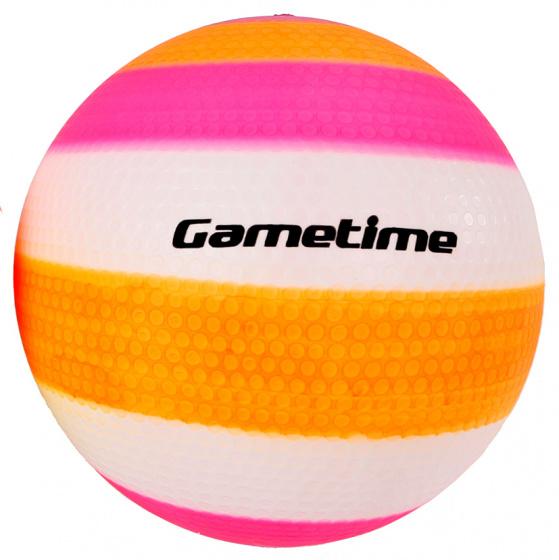 Gametime bal opblaasbaar junior 23 cm rubber oranje/paars