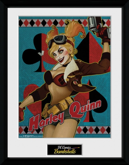 DC Comics Harley Quinn 16 x 12 Inches Framed Photographic