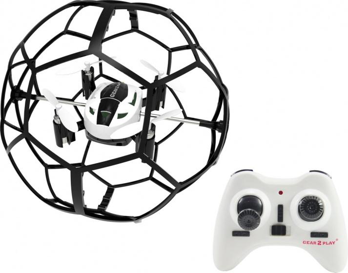 Gear2play mini drone Soccer Drone 9 cm wit-zwart