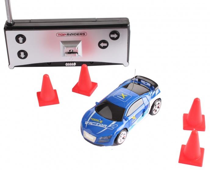 Gear2play RC raceauto driftincars 7 cm met accessoires blauw