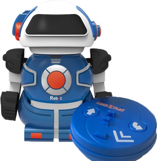 Gear2play RC robot Mini Bot speelfiguur 10 cm blauw