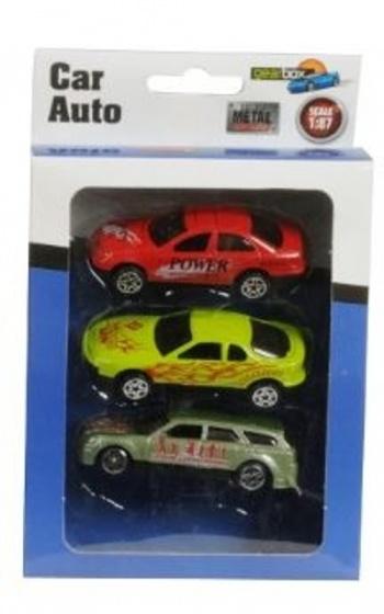 Gearbox Auto set Diecast 1:87 7 cm rood/groen/geel 3 stuks