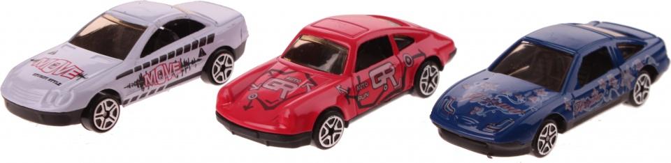 Gearbox Auto set Diecast 1:87 7 cm wit/rood/blauw 3 stuks