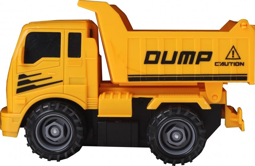 Gearbox bouwtruck geel 17 cm