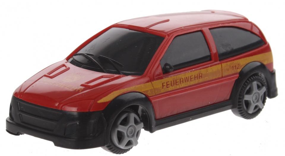 Gearbox feurwehrauto voertuig rood 10 cm