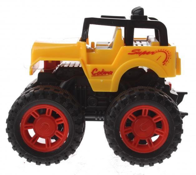 Gearbox jeep geel kunststof 10 cm