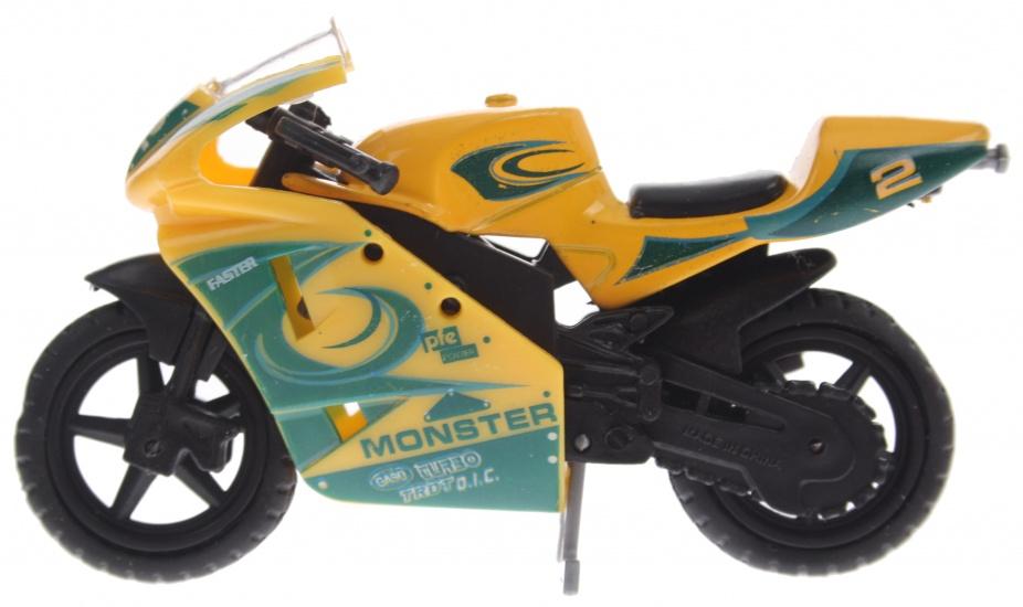 Gearbox Monster Motor 9 cm geel/groen