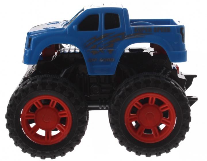 Gearbox monstertruck blauw kunststof 10 cm