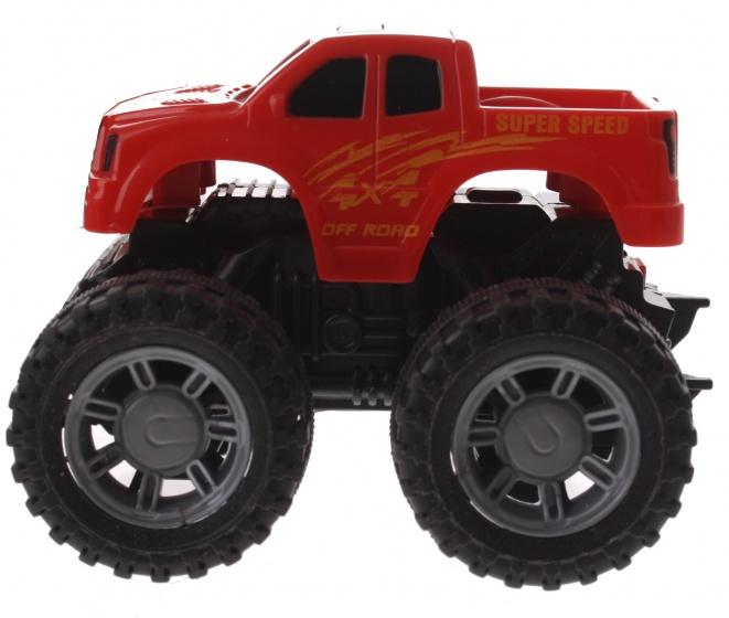 Gearbox monstertruck rood kunststof 10 cm