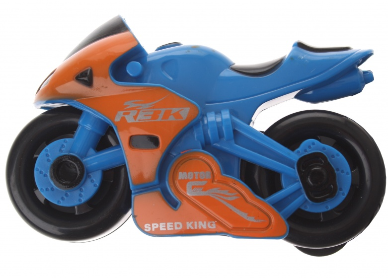 Gearbox motor kunststof blauw/oranje 12 cm