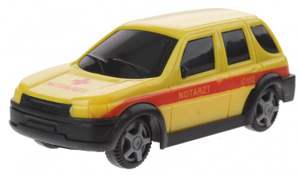 Gearbox notarztwagen auto geel/rood 10 cm