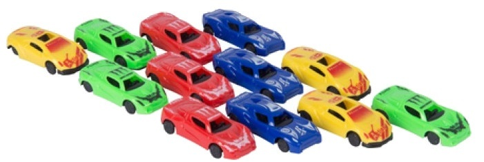 Gearbox Raceauto's 6,5 cm 12 stuks